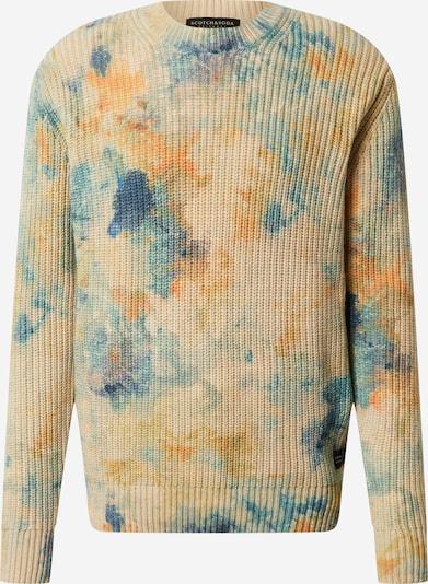 SCOTCH & SODA Pullover in beige / blau / orange, Produktansicht