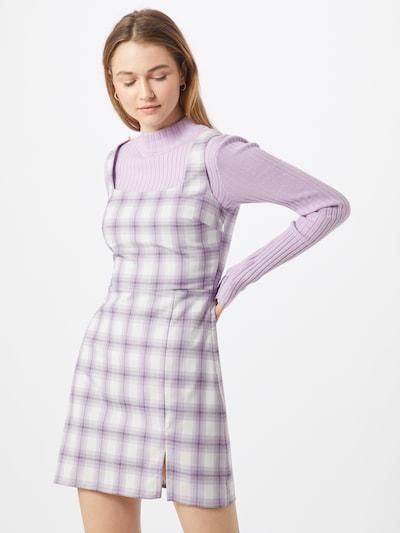Fashion Union Kleid 'PINS' in lila / weiß, Modelansicht