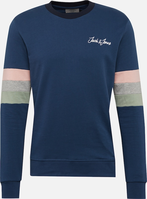 Sweat Crew Jackamp; 'jorfred Foncé shirt Jones En Sweat Neck' Bleu POkiXZu