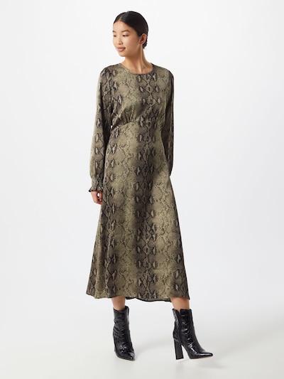 Herrlicher Kleid 'Loulou' in grau / oliv, Modelansicht