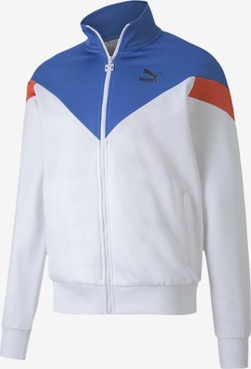 PUMA Sweatjacke 'Iconic MCS PT' in royalblau / dunkelorange / weiß, Produktansicht