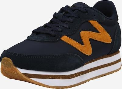 WODEN Sneakers laag in de kleur Navy / Mosterd, Productweergave