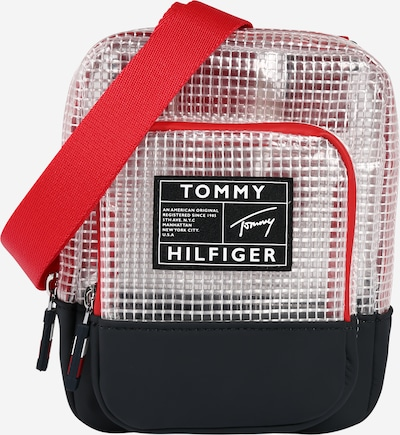 TOMMY HILFIGER Tas in de kleur Marine / Rood / Transparant, Productweergave