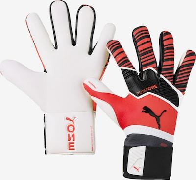 PUMA Handschuhe 'ONE Grip 1 Hybrid Pro' in rot / schwarz / weiß, Produktansicht