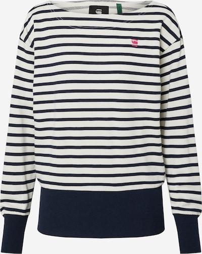 G-Star RAW Sweatshirt 'Xzyph yd stripe r sw wmn l\s' in blau / weiß, Produktansicht