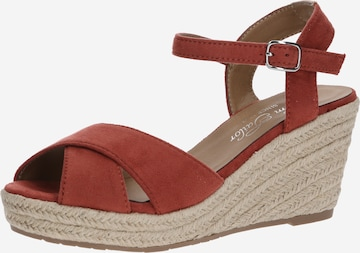 Sandale cu baretă de la TOM TAILOR pe roșu