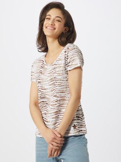 Key Largo Shirt 'WT EDITH round' in hellbraun / offwhite: Frontalansicht