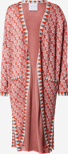 DELICATELOVE Gebreide mantel 'Ida Big X' in de kleur Lichtblauw / Rosa, Productweergave