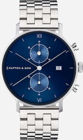 Kapten & Son Analoogkell 'Chrono Silver Steel', värv Hõbe
