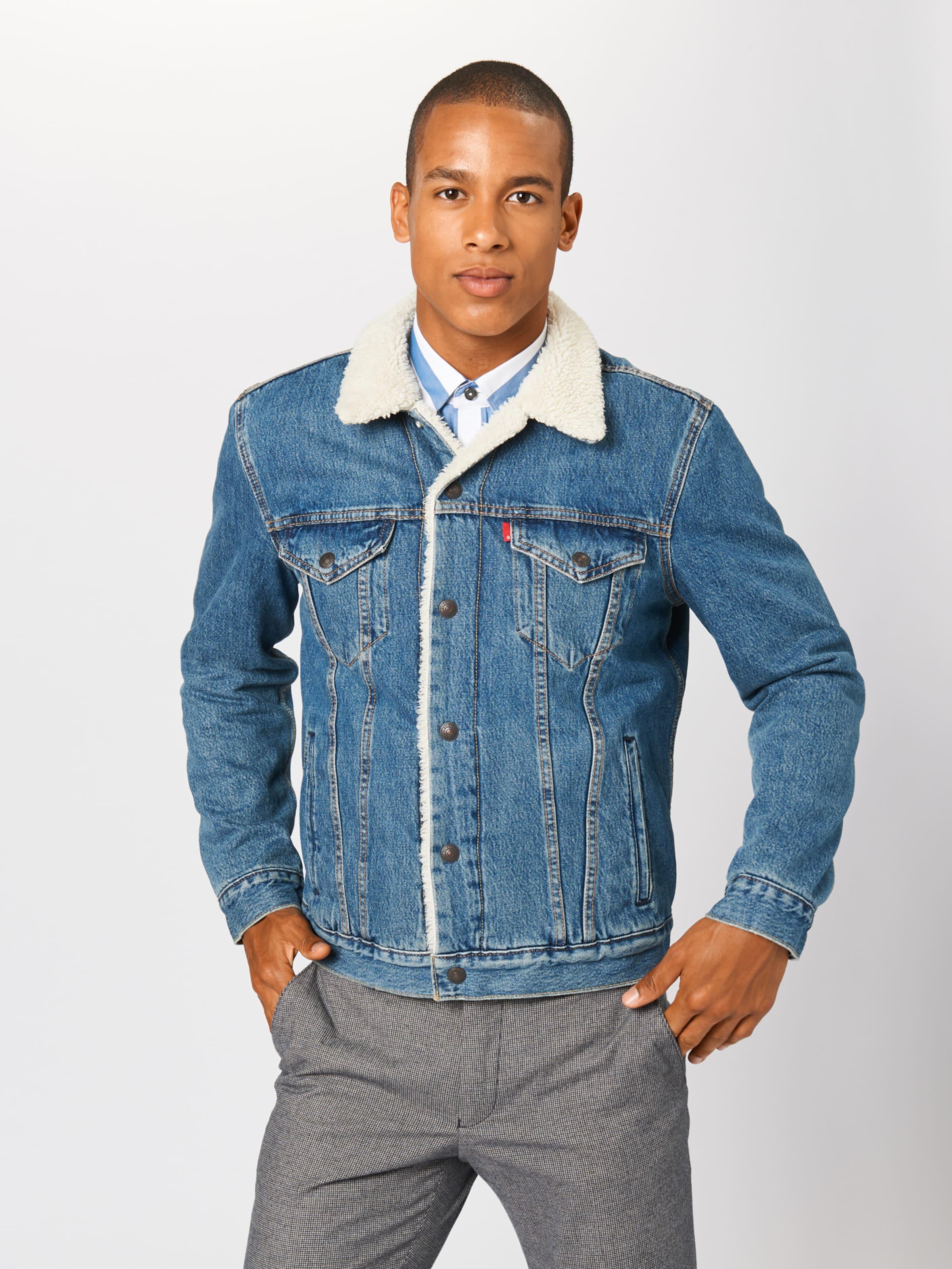 Levi's Veste saison 'type Trucker' En Denim Mi Sherpa 3 Bleu D9IEYHW2