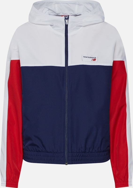 Mi Athletics Windbreaker' saison Blanc New BleuRouge Balance 'nb En Veste 4ARL3q5jc