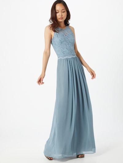 Rochie de seară SWING pe albastru deschis: Privire frontală
