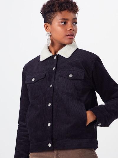Dr. Denim Jacke 'Sana Sherpa Jacket' in schwarz, Modelansicht