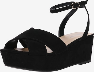 ABOUT YOU Plateausandalette 'Heidi' in schwarz, Produktansicht