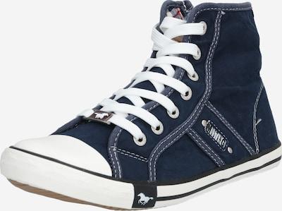 MUSTANG Sneaker in dunkelblau / weiß, Produktansicht