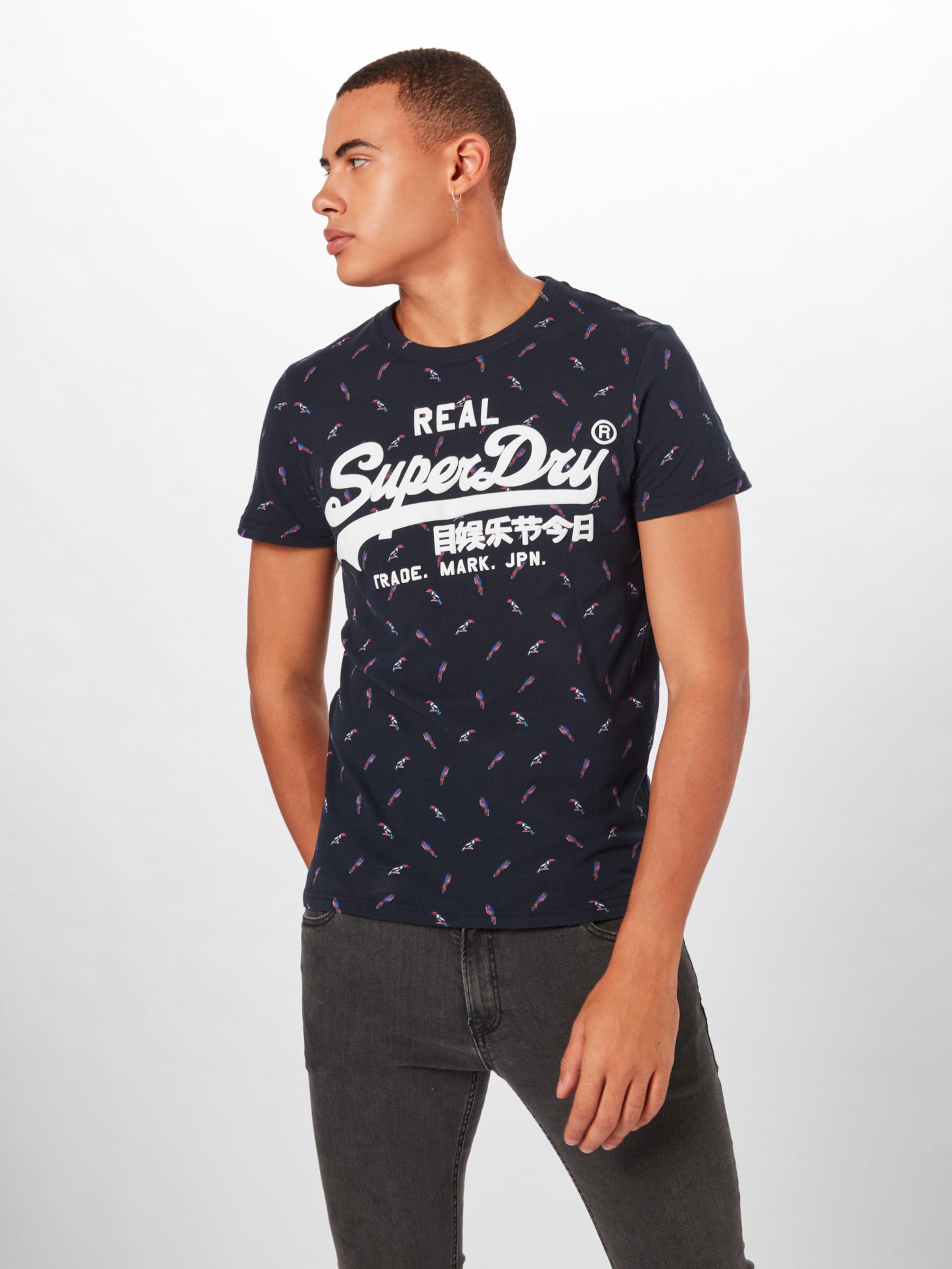 T Mid Superdry Logo En Tee' shirt Aop MarineBlanc 'vintage Bleu wZkuOXiTlP