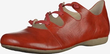 JOSEF SEIBEL Ballet Flats with Strap in Red