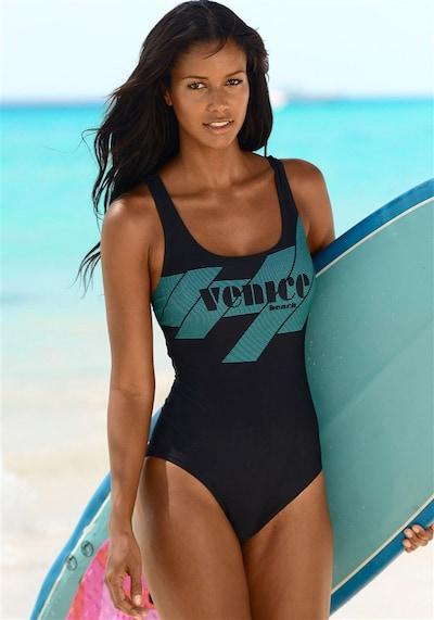 VENICE BEACH Badeanzug in jade / schwarz, Produktansicht