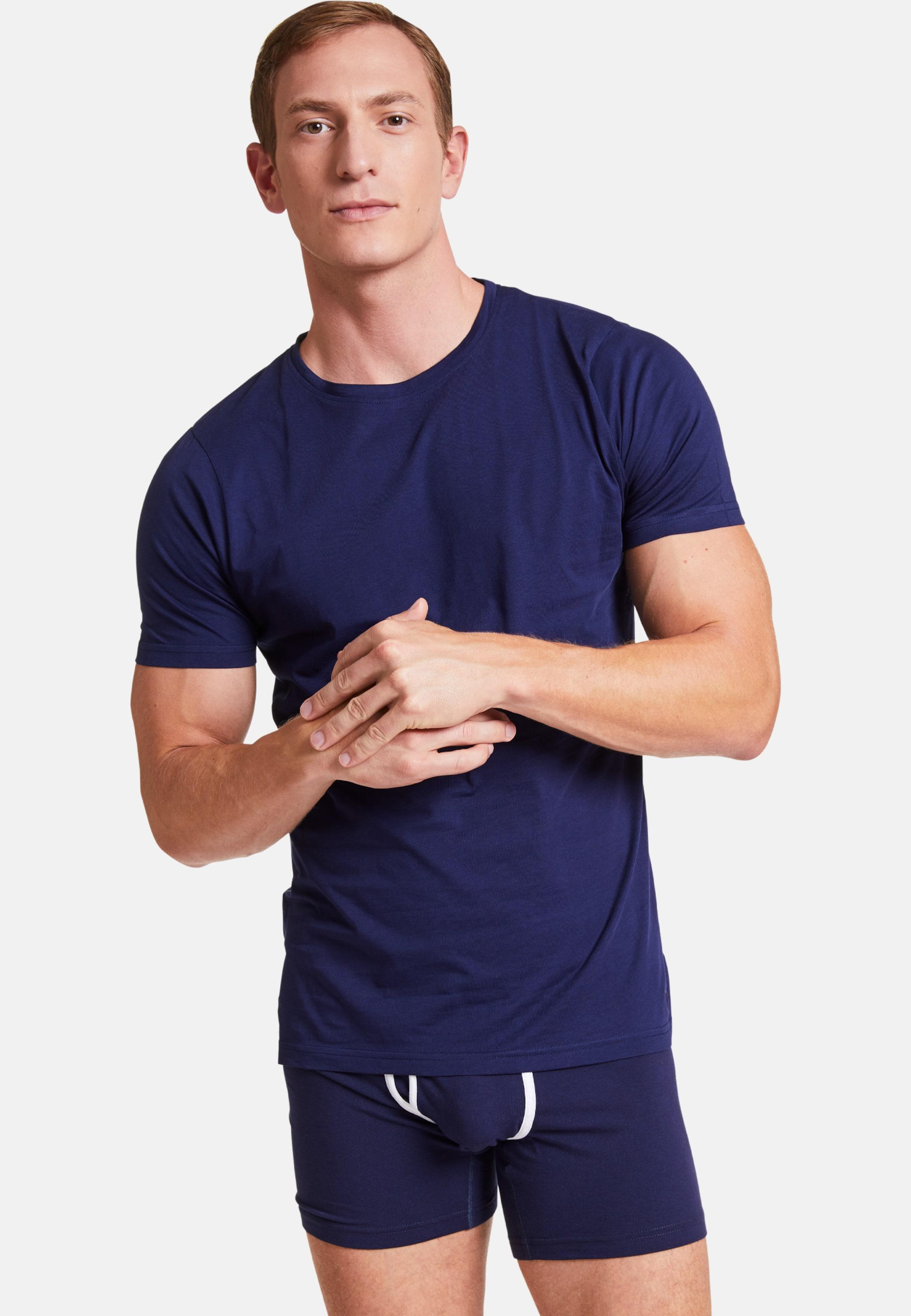 Vatter In 'basic Blau Rundhalsshirt Bob' PZuXOki
