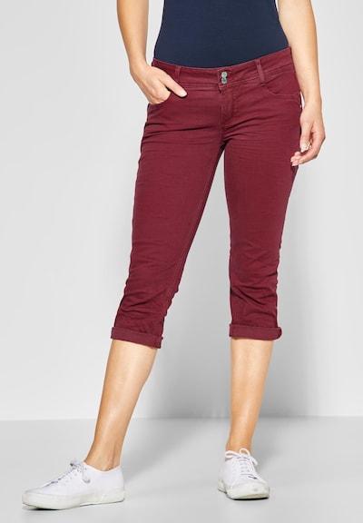 STREET ONE Jeans 'Crissi' in karminrot, Modelansicht
