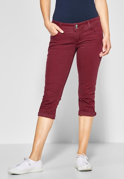 STREET ONE Jeans 'Crissi' in de kleur Karmijnrood, Modelweergave