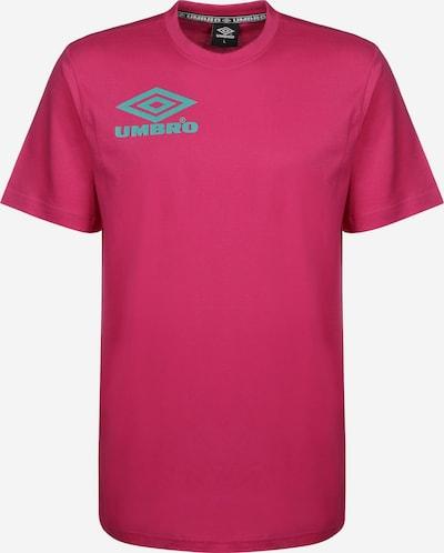 UMBRO T-Shirt ' Collider Crew ' in türkis / pink, Produktansicht