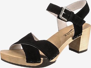 SOFTCLOX Sandalette 'Rebekka' in Schwarz