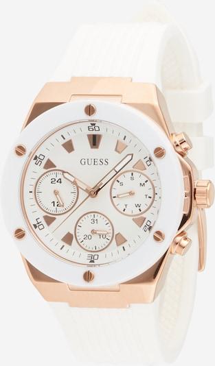 Analoginis (įprastinio dizaino) laikrodis 'ATHENA' iš GUESS , spalva - rožinio aukso spalva / balta, Prekių apžvalga