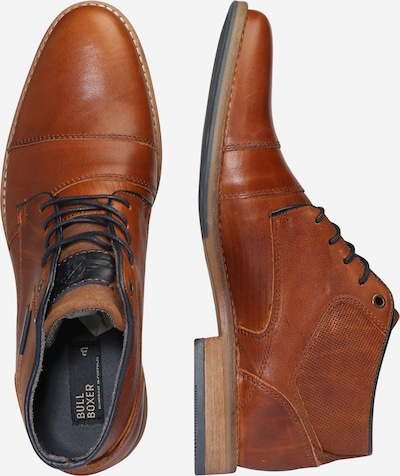 BULLBOXER Halbhoher Schnürschuh in braun: Seitenansicht