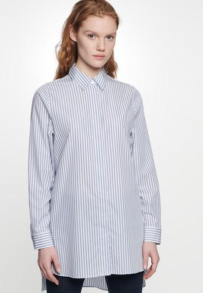 SEIDENSTICKER Bluse 'Schwarze Rose' in blau / weiß, Modelansicht