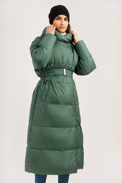 Finn Flare Wintermantel in de kleur Groen, Modelweergave