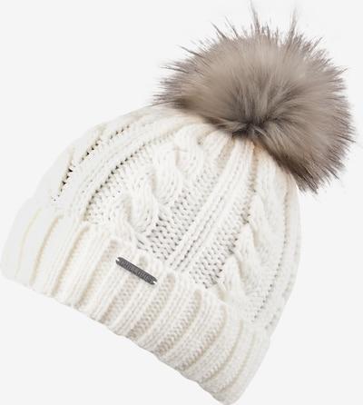 Megzta kepurė 'Joan' iš chillouts , spalva - balta, Prekių apžvalga