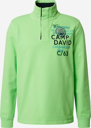 CAMP DAVID Sweatshirt in neongrün, Produktansicht