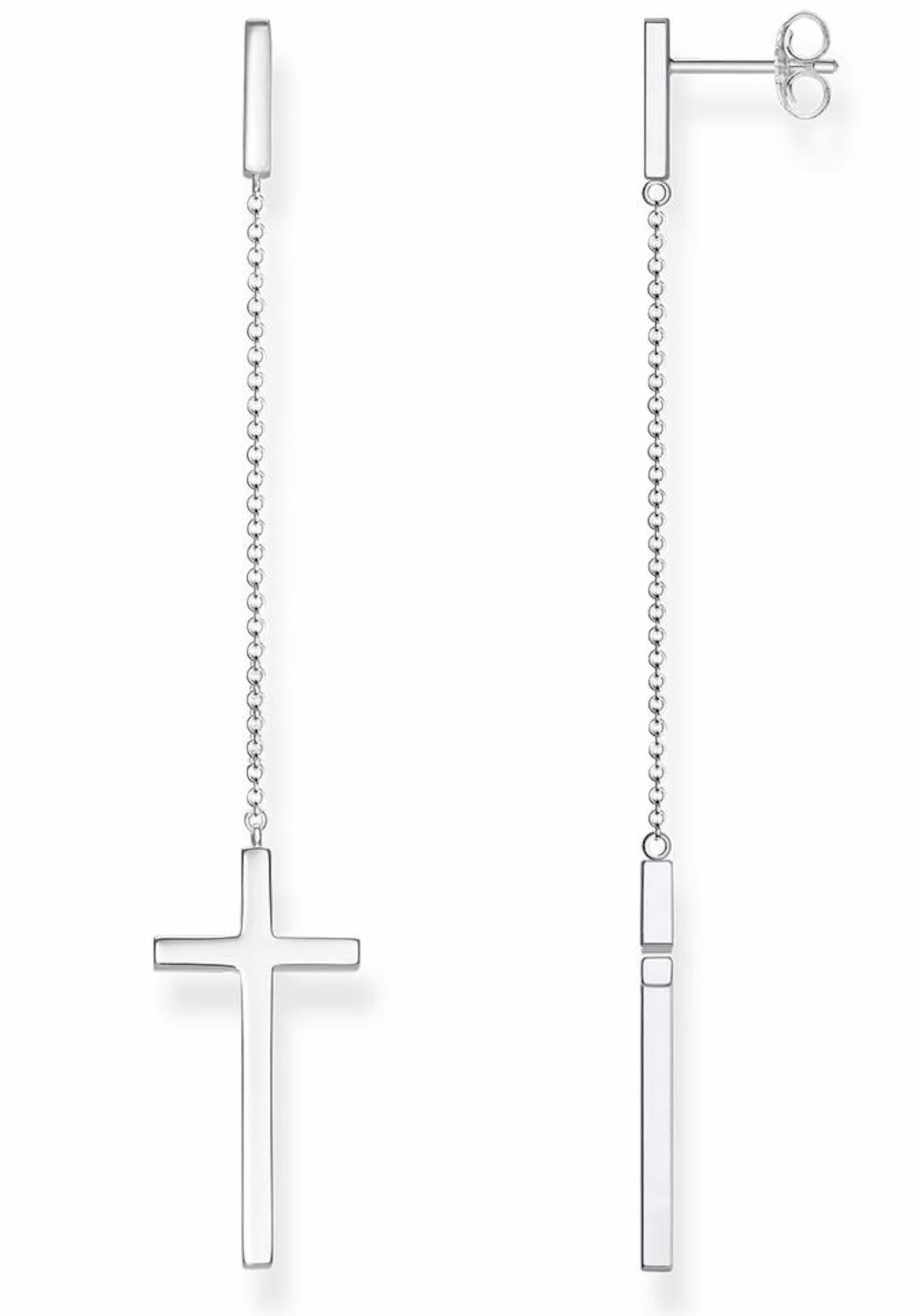 Paar Thomas Ohrstecker 12' Silber 'kreuzeH1949 In Sabo 001 E2IDH9