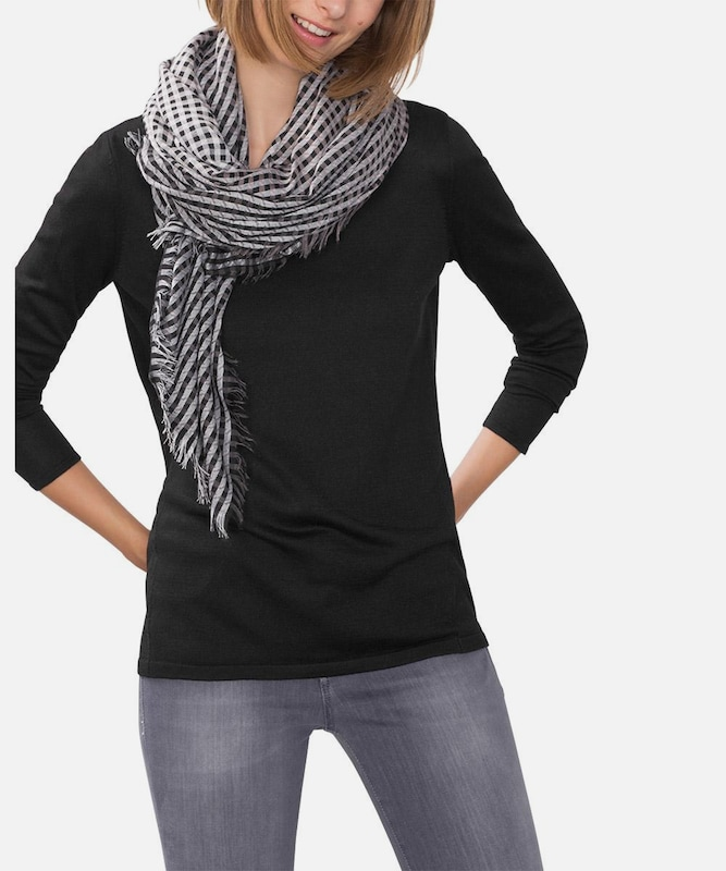 Esprit Fine Trick Sweater On Decollete With Rolled Edge