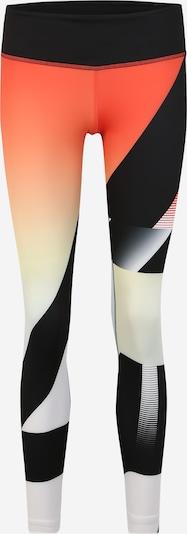 REEBOK Pantalon de sport en orange / noir / blanc, Vue avec produit