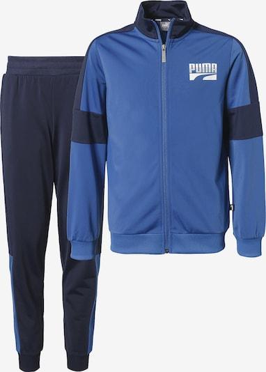 PUMA Trainingsanzug 'Rebel' in blau / kobaltblau / weiß, Produktansicht