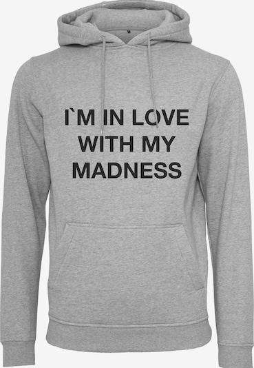 Mister Tee Sweat-shirt 'Madness' en gris chiné / noir, Vue avec produit