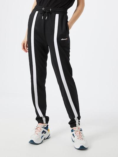 ELLESSE Hose 'ASTRO' in schwarz / weiß, Modelansicht