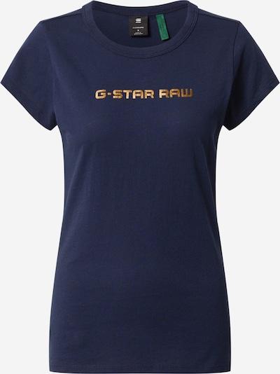 G-Star RAW Shirt 'Eyben Graw Foil' in de kleur Nachtblauw / Brons, Productweergave