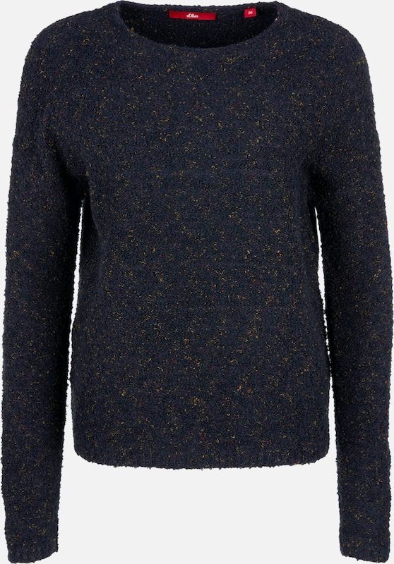 S.Oliver rot LABEL Pullover in nachtblau  Mode neue Kleidung