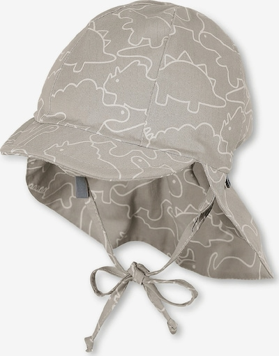 STERNTALER Schirmmütze in grau / weiß: Frontalansicht