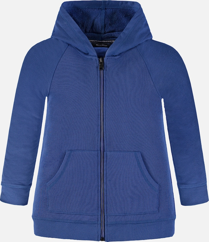 Marc O'Polo Junior Sweatjacke mit Kapuze in blau, Produktansicht