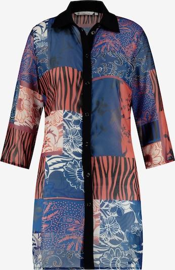 Loom&Lace Hemdbluse in blau / orange / schwarz, Produktansicht