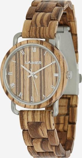 LAiMER Damen Armbanduhr Holzuhr 'Greta' in ocker, Produktansicht