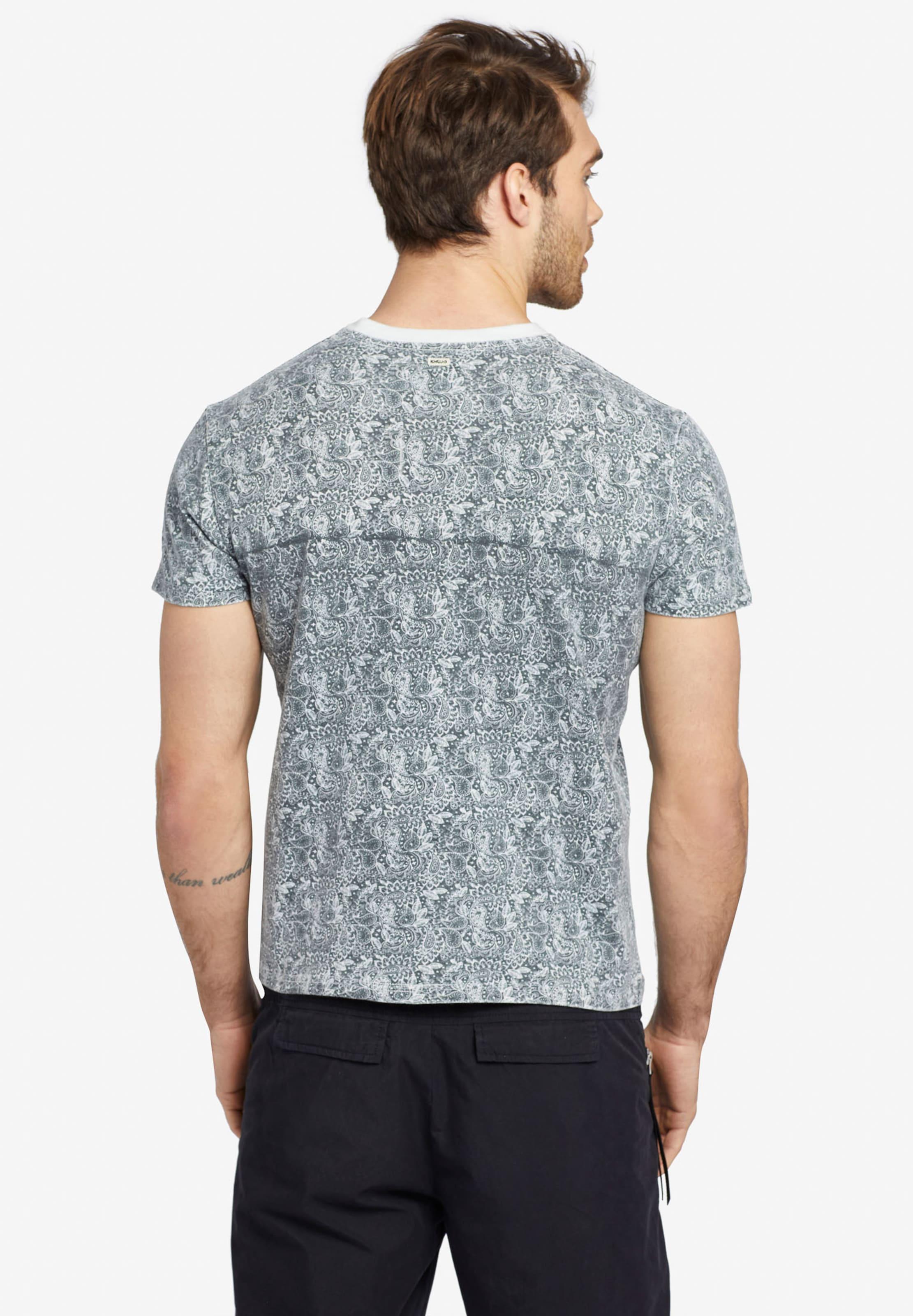 Khujo Chiné T Paisley ' Elijah shirt Gris Aop En xBdCWore