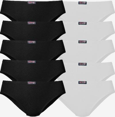H.I.S Slip in schwarz / weiß, Produktansicht