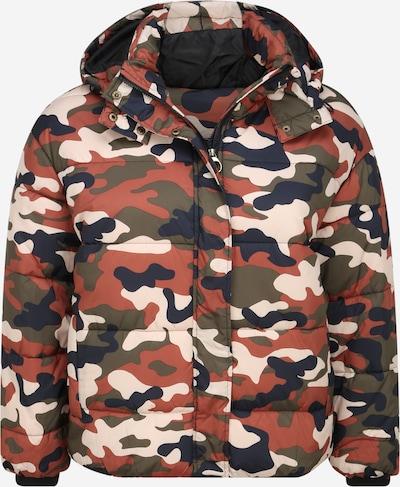 Urban Classics Curvy Jacke in dunkelblau / rostbraun / oliv / weiß, Produktansicht