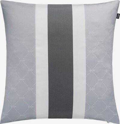 JOOP! Kissenhülle 'SIGNATURE' in grau / schwarz / weiß, Produktansicht