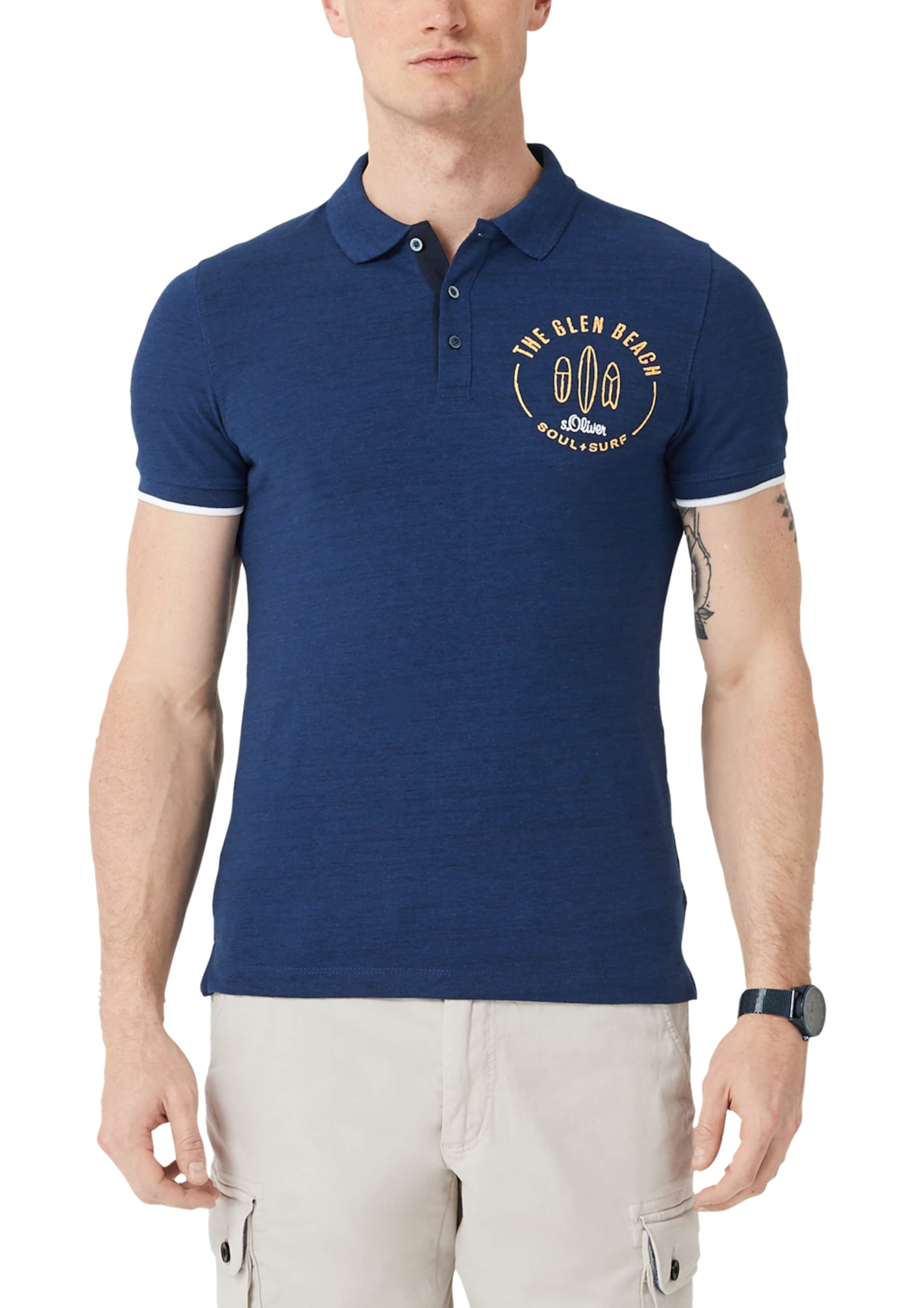 Blau Label S In oliver Red Poloshirt 1FKuT5lJc3